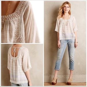 Anthropologie Holding Horses Lace Cotton Top 4
